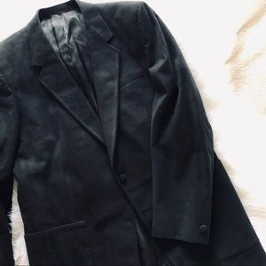 Men's vintage black ultrasuede sport coat